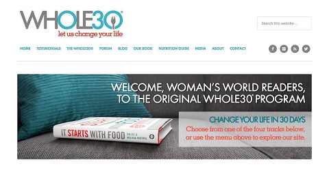 Whole30 website