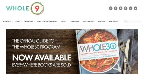 Whole9 Life website
