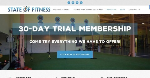 State of Fitness website
