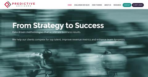 Predictive Advisors website