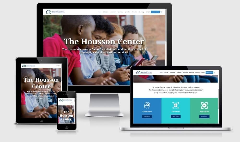 The Housson Center website